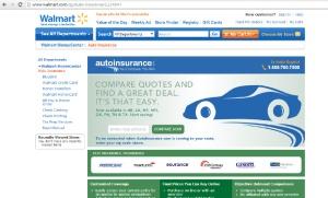Wal mart auto insurance