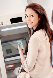 QR code ATM