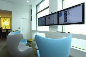 Kantoor KBC schermen