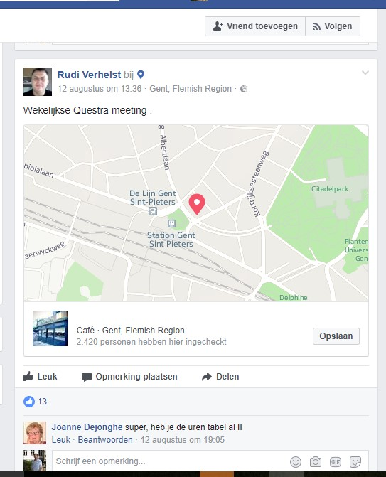 Questra update 1608 Meeting